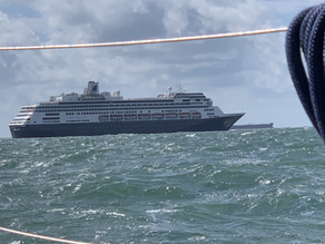 """from IJmuiden to Scheveningen - our first day """"only us"""" on the open sea"""