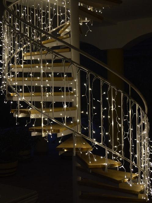 lépcső fényfüzér