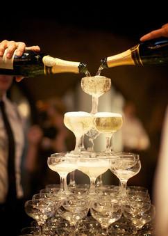 pezsgős vendégvárás