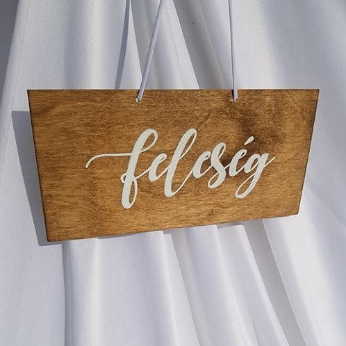 """""""Feleség"""" tábla"""