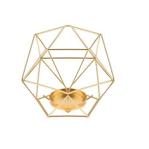 arany geometrikus mécsestartó