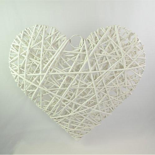 rusztikus fonott vessző szív
