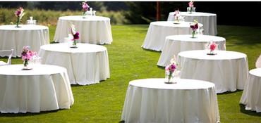 esküvői körabrosz fehér