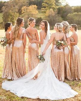 rosegold koszorúslány ruha