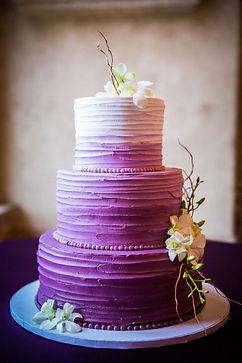 ombre menyasszonyi torta