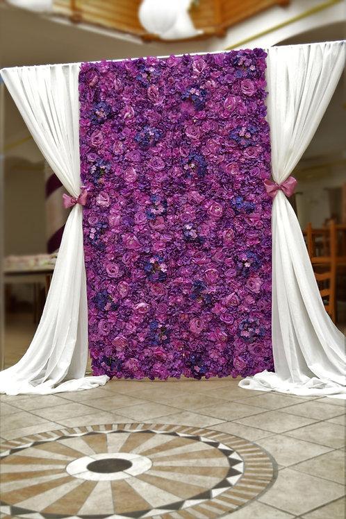 Virágfal lila/padlizsán színben normál méret