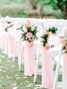 halvány rózsaszín székdísz