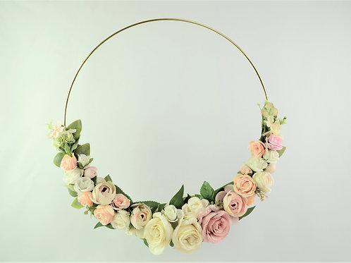 púder rózsaszín virágkarika
