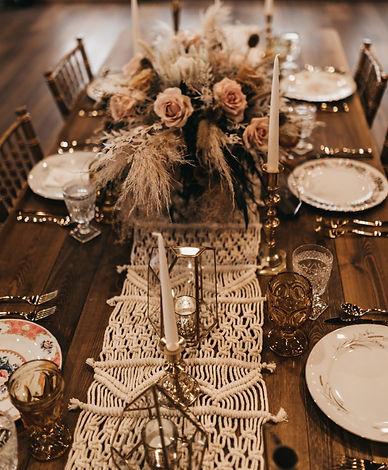 makramé asztalfutó