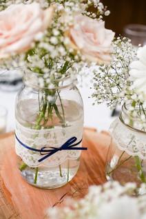 befőttes üvegek csipkével