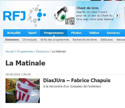 Interview pour la radio RFJ