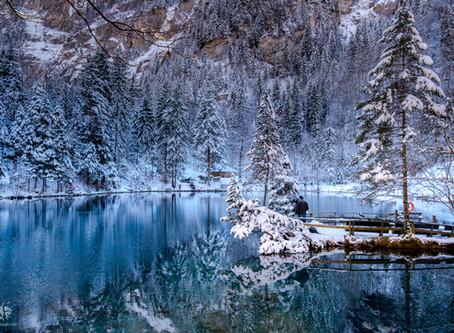 Blausee sous la neige