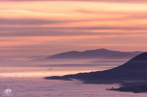 Le Littoral Neuchâtelois sous le brouillard
