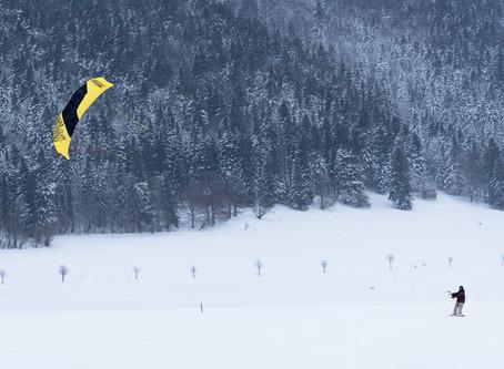 Snowkite à La Sagne