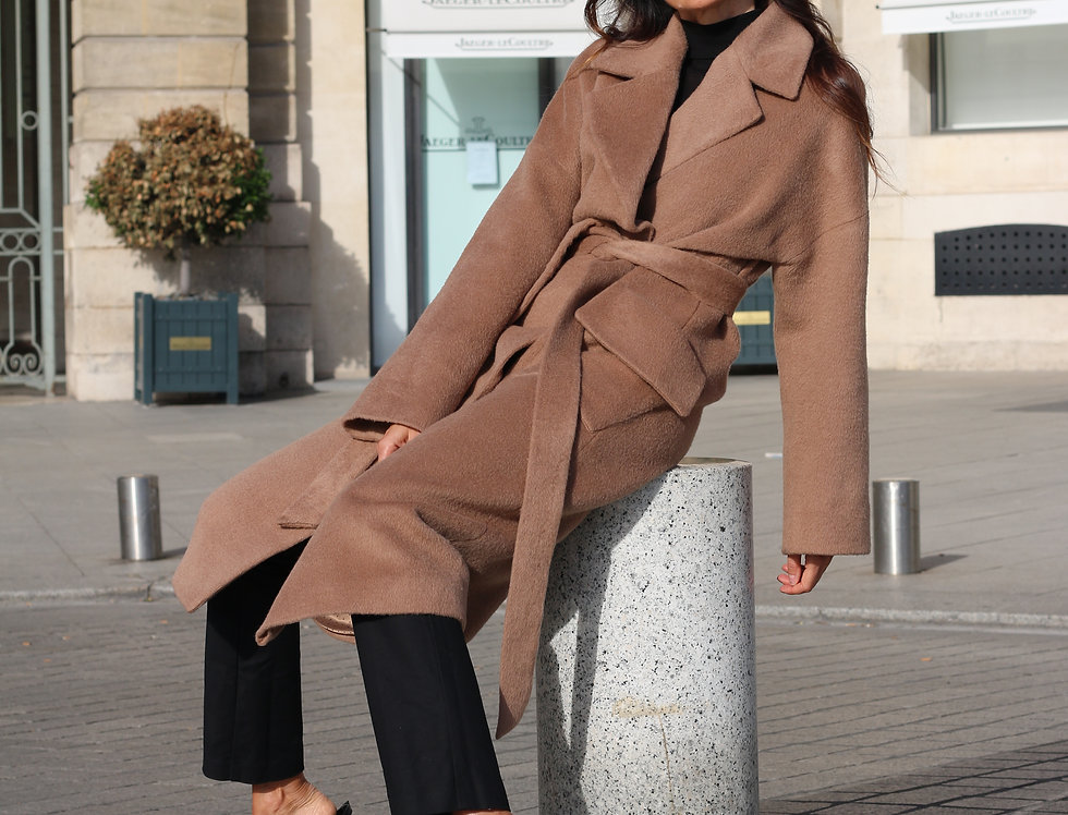 Coat EVELINA camel