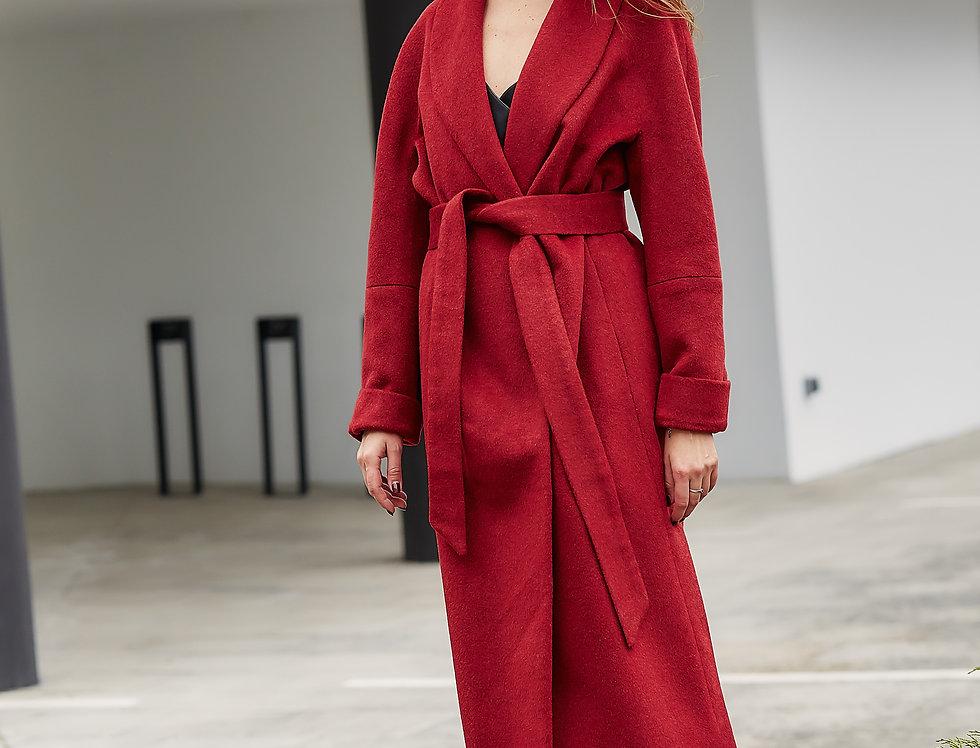 Пальто EVA красное