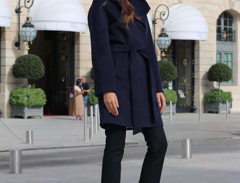 Coat LINA dark blue