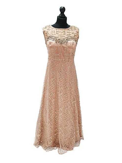 Dusty Pink Sparkly Gown (2XL)