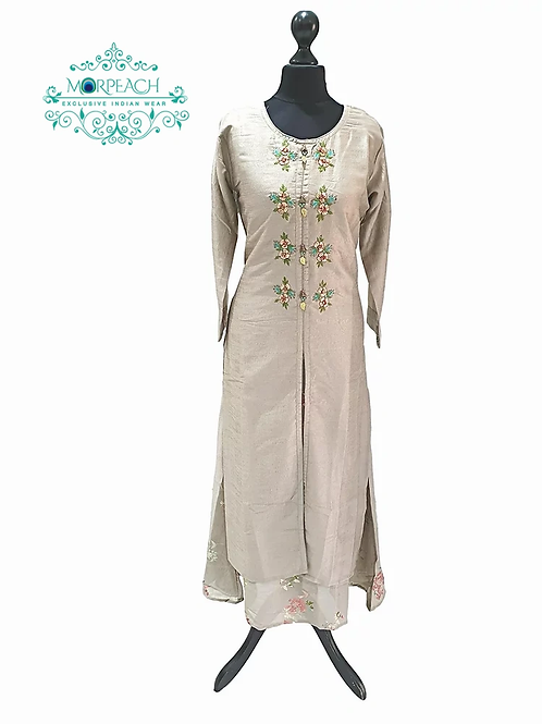 Grey Double Layered Kurti