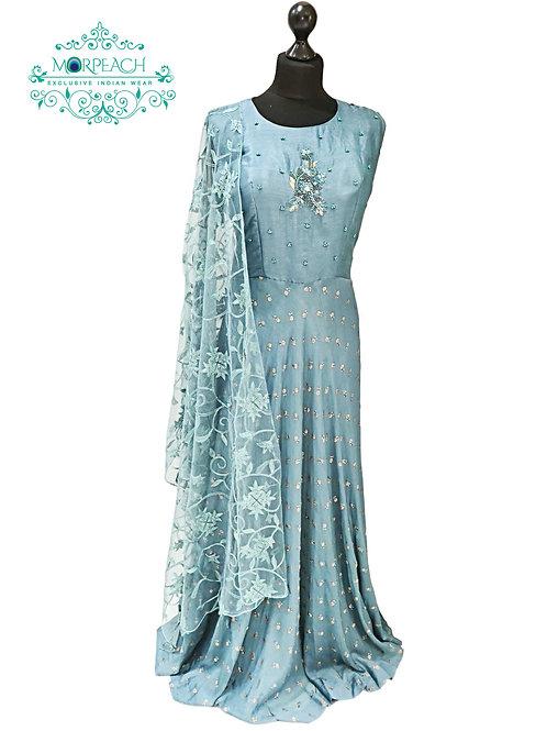 Light Grey Chiffon Dress (XL)