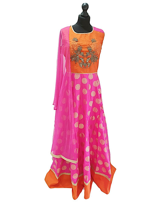 Bright Pink And Orange Gown (XL)
