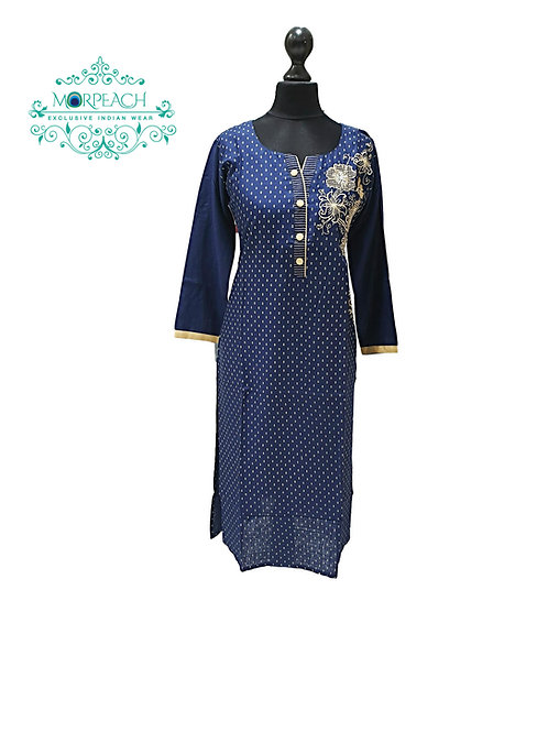 Blue and Beige Kurti