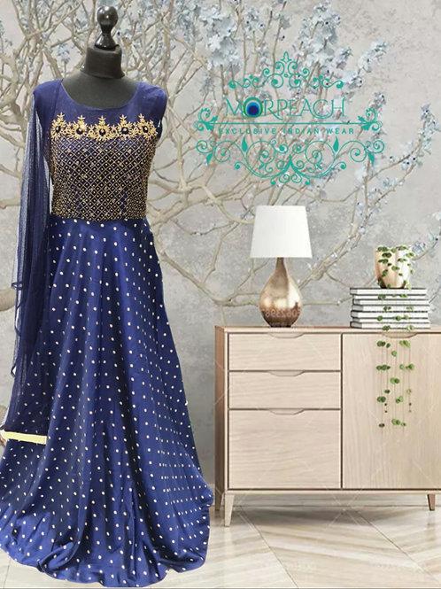 Blue Diamond Embedded Dress (XL)