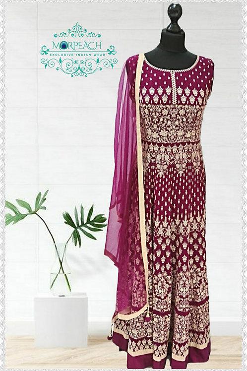 Magenta Threadwork Dress (R)