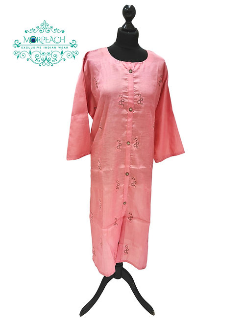 Peach Straight Cut Kurti (7XL)