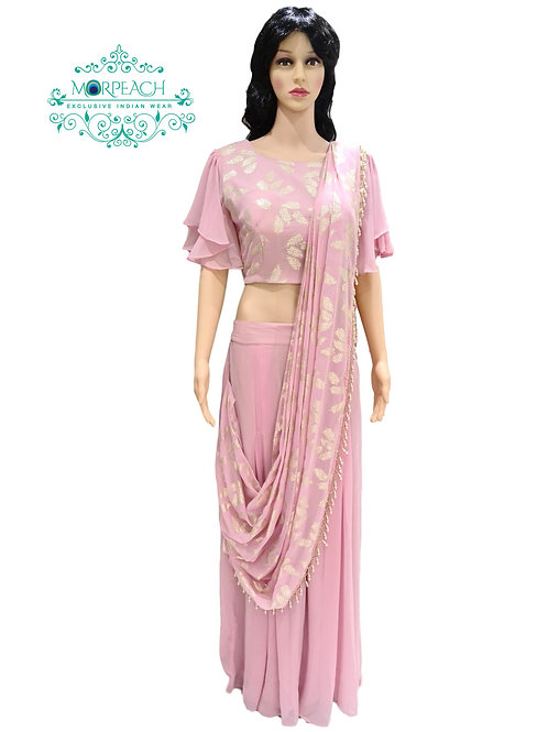 Pink Saree Style Gharara (XL)