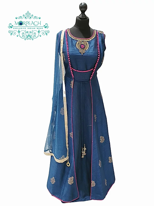 Jacket Style Blue Dress (R)