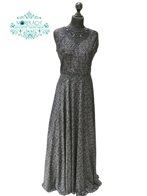 Charcoal Black Shimmer Gown