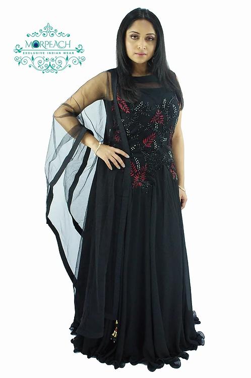Black Chiffon Gown (R)