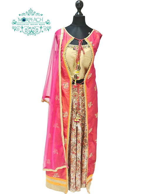 All Attached Lehenga Style One Piece Dress (XL)