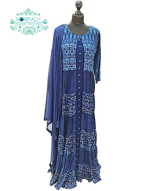 Blue Layered Heavy Gown (2XL)