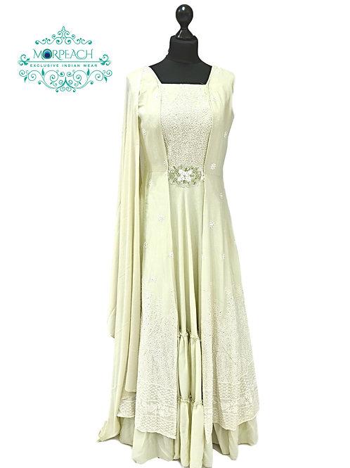 Pastel Green Layered Dress (R)