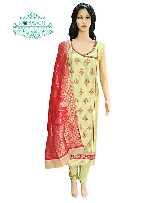 Green Angrakha Style Dress (4XL)