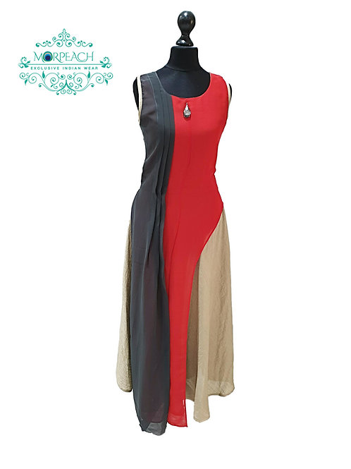 Red And Gold Kurti (S)