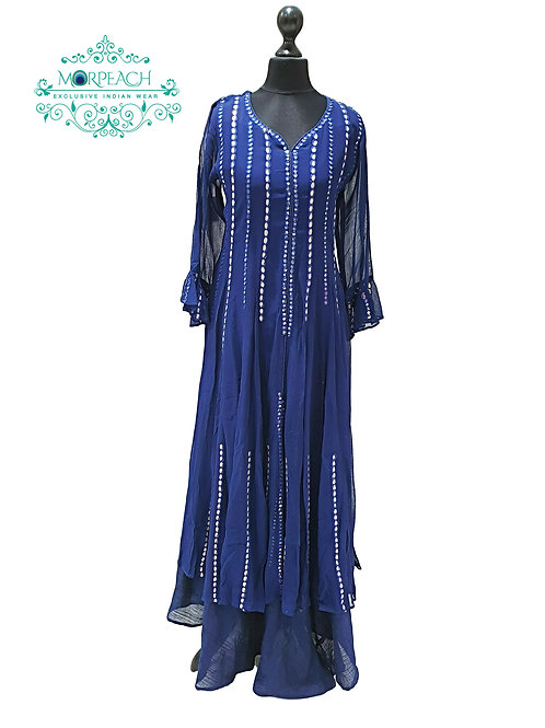 Blue Double Layered Kurti (3XL)