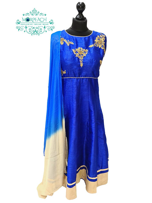 Blue Short Anarkali Dress (XL)