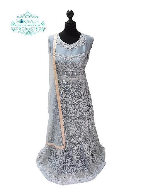 Grey Sequence Net Dress (XL)