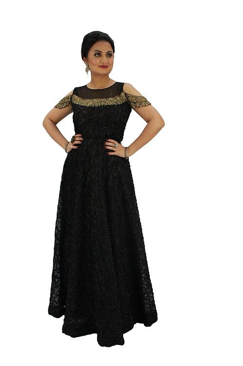 Black shimmer gown (XL)