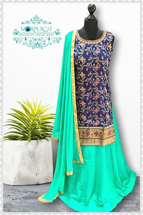 Long Top & Skirt Silk Lehenga (Reg)