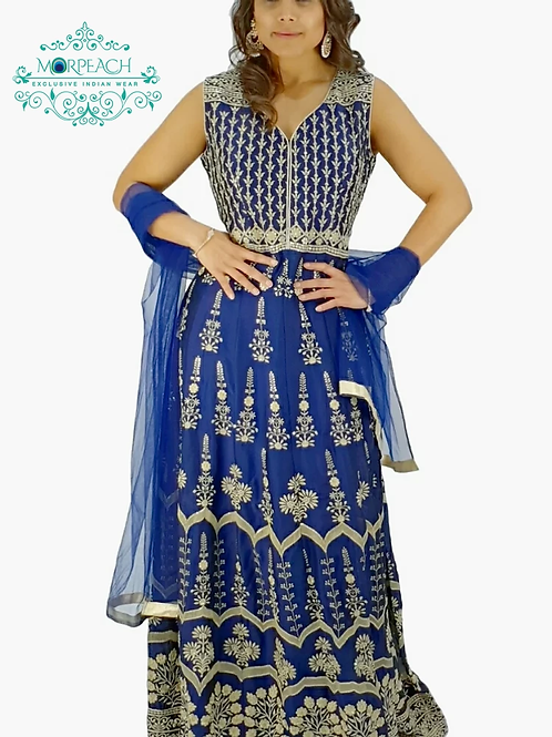 Blue Full Embroidery Dress (R)
