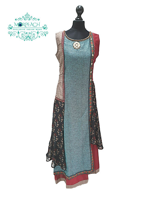 Blue Layered Kurti (M)