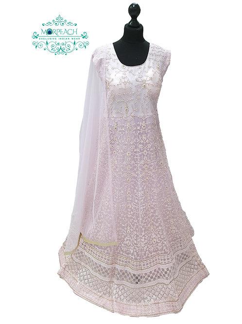 Baby Pink Thread & Sequence Dress (4XL)