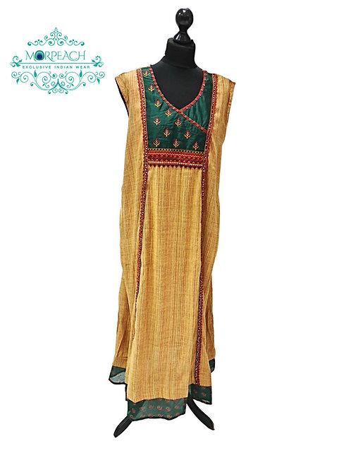 Mustard And Green Ethnic Kurti (8XL)