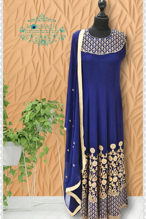 Blue Daman Work Chiffon Dress (R)