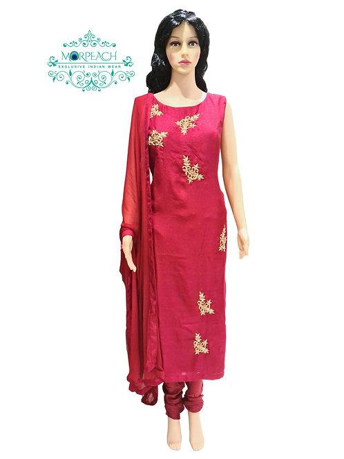 Dark Red Straight Cut Dress (XL)