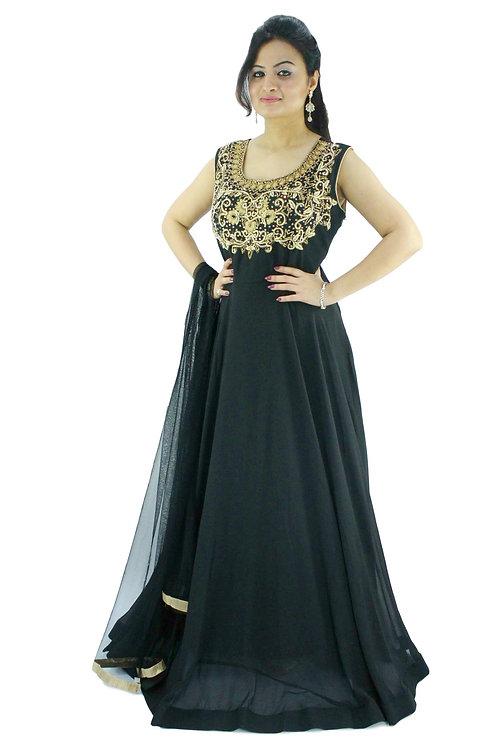 Black Chiffon Gown (XL)